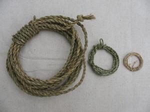 17 various size cordage